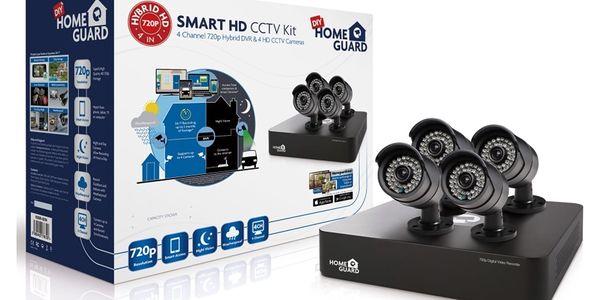 Kamerový systém iGET HOMEGUARD HGDVK46704 - 4-kanálový HD rekordér DVR + 4x barevná venkovní HD kamera 720p (HGDVK46704) + DOPRAVA ZDARMA5