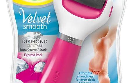 Elektrický pilník na chodidla Scholl Velvet Smooth Diamond Extra hrubý růžová