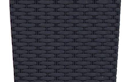 Prosperplast Obal RATO SQUARE antracit 20x20x37,6 cm