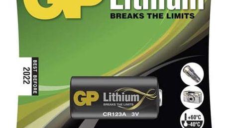 Baterie lithiová GP CR123A, blistr 1ks (B1501)