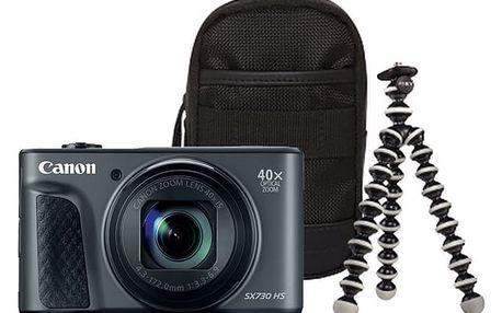 Digitální fotoaparát Canon PowerShot SX730HS, Travel Kit černý (1791C016AA)