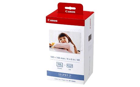 Fotopapír Canon KP-108 pro termosublimační tiskárny,10x15, 108 listů (3115B001)