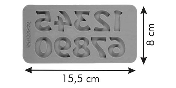 TESCOMA silikonové formičky DELÍCIA DECO, čísla retro2