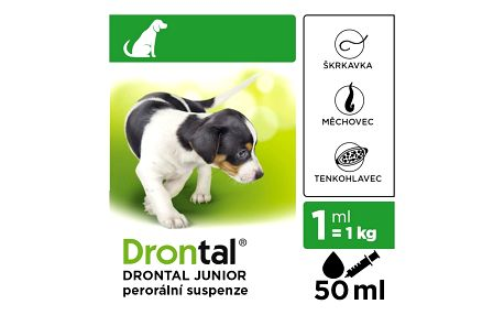 DRONTAL JUNIOR A.U.V. SUS 50ML+APLIKÁTOR