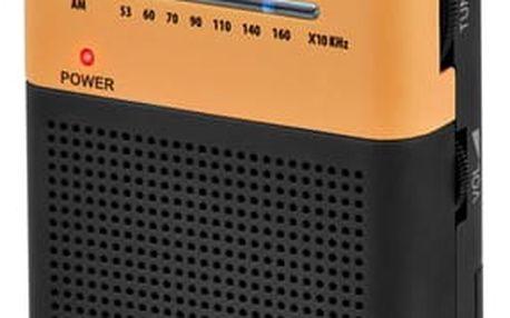 Radiopřijímač Hyundai PPR 310 BO černý/oranžový