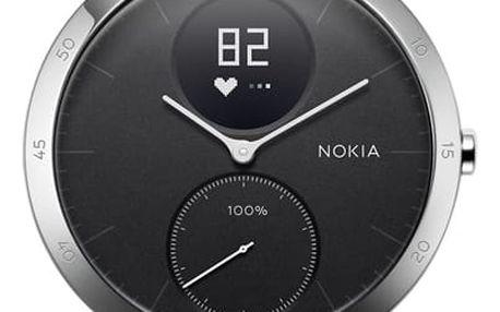 Chytré hodinky Nokia Steel HR (40mm) černé (HWA03-40black-All-Inter)