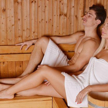90 minut pohody pro 2: saunový svět a whirlpool