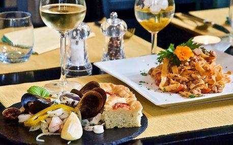 Degustační menu od italských kuchařů pro 2 osoby