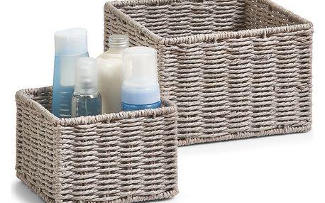Košík pro kosmetiku, drobnosti, skládací - sada 2 ks, ZELLER