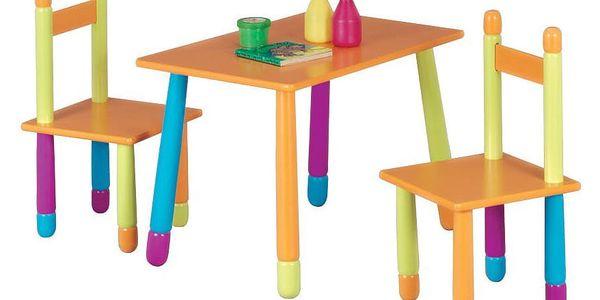 ZELLER Dětský stolek COLOR + 2 židličky2