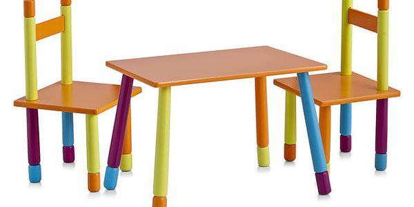 ZELLER Dětský stolek COLOR + 2 židličky