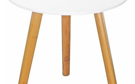 Konferenční stolek WINTER 1, bílý DOPRODEJ