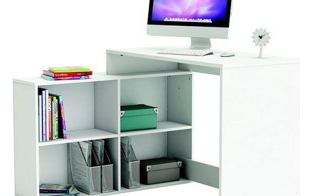 Univerzální rohový psací stůl RIPON, bílá