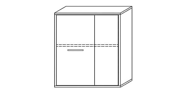 Závěsná skříňka LAWSON 13, černá/bílá2