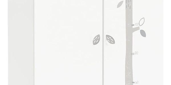 BAER dětská skříň, bílá s obrázky