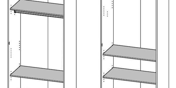BAER dětská skříň, bílá s obrázky2