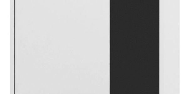 MB Komoda ZU13 skříň dvoudveřová bílá/černá