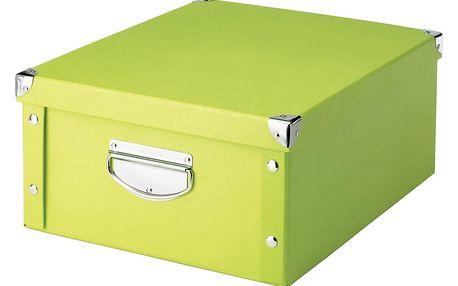 Box pro skladování, 40x33x17 cm, barva zelená, ZELLER