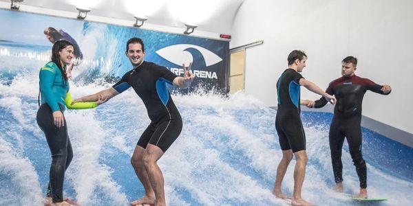 Nauč se surfing na trenažeru 30 minut pro 2 osoby4