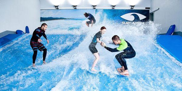 Nauč se surfing na trenažeru 30 minut pro 2 osoby5