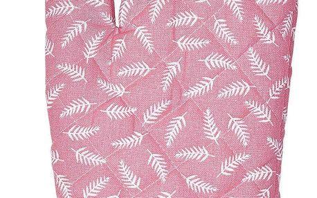 GREEN GATE Grilovací rukavice Milla Rose, růžová barva, textil