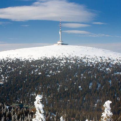 Pobyt ve vysílači Praděd ve výšce 1491 m.n.m. pro dva s polopenzí