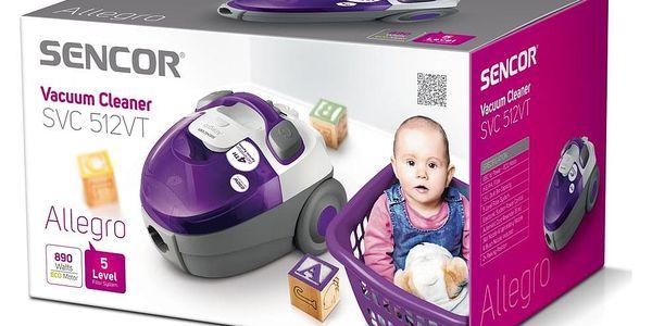 Bezsáčkový vysavač Sencor SVC 512VT-EUE22