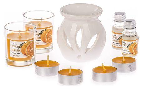 Sada svíček a aromalampy Odeur Orange, 9 ks