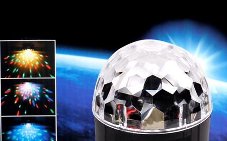 Rotační křišťálová diskokoule s Bluetooth