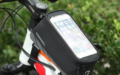 Praktická taška na kolo s držákem na telefon