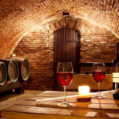 Romantická jižní Morava s polopenzí i vínem