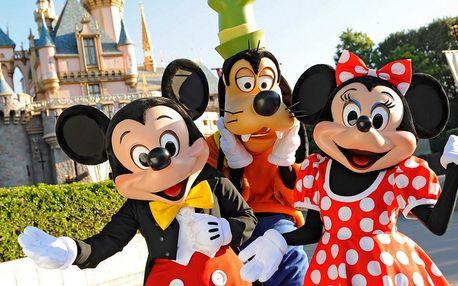 Celý den plný adrenalinu v Disneylandu Paříž, autobusem včetně ohňostroje