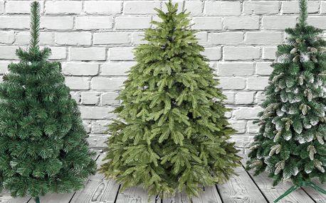 Umělé vánoční stromky se stojanem i s 3D jehličím
