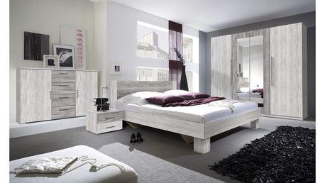 WILDER ložnice s postelí 180x200 cm, borovice canyon světlá/borovice canyon tmavá