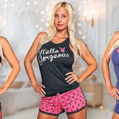 Sexy bavlněná pyžama se zajíčkem Playboy