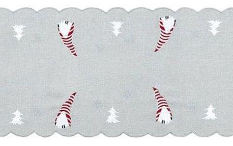Forbyt Vánoční ubrus Trpaslíci, 35 x 160 cm