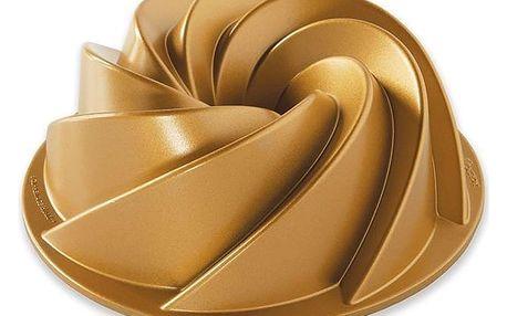 Nordic Ware Hliníková forma na bábovku Gold Heritage ⌀ 22 cm, zlatá barva, stříbrná barva, kov