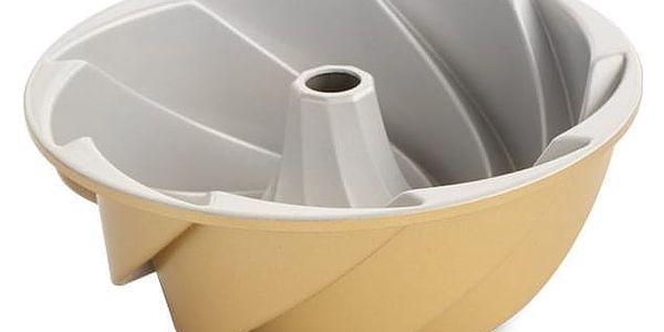 Nordic Ware Hliníková forma na bábovku Gold Heritage ⌀ 22 cm, zlatá barva, stříbrná barva, kov3