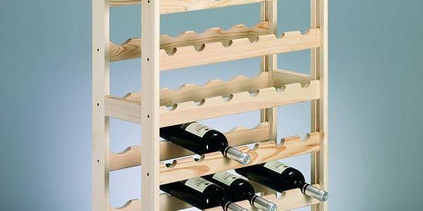 Dřevěný stojan na víno, 54 lahví, ZELLER2