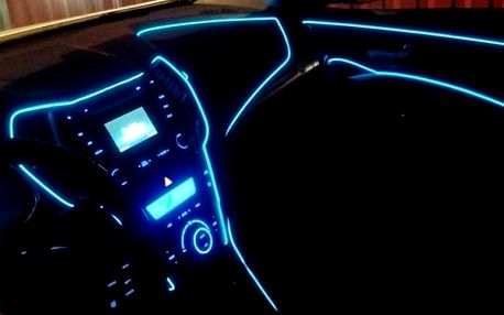 Dekorační LED pásek do auta - 9 barev