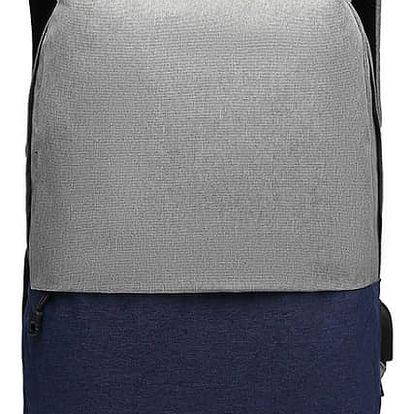 Dámský modro-šedý batoh Karley 6891