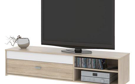 Televizní stolek GAEL 03, dub sonoma/bílá