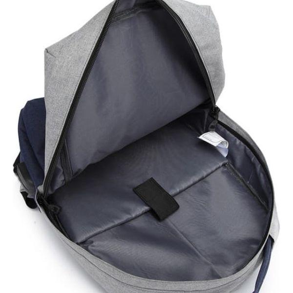 Dámský šedo-modrý batoh Karley 68912