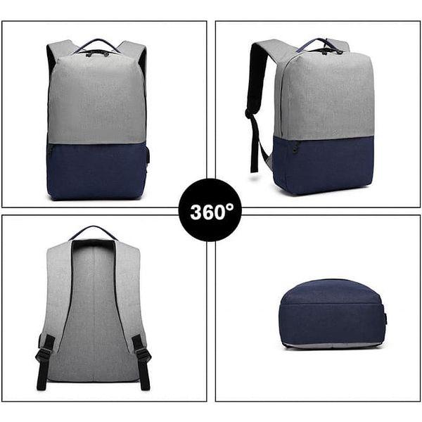 Dámský šedo-modrý batoh Karley 68913