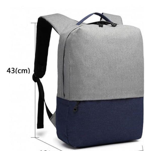Dámský šedo-modrý batoh Karley 68914