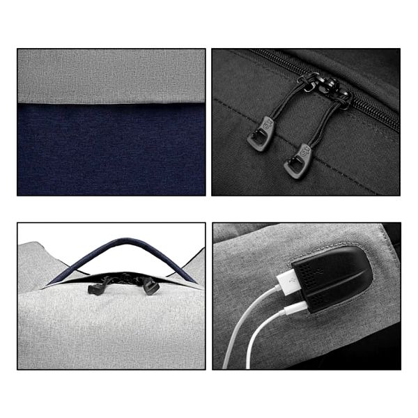 Dámský šedo-modrý batoh Karley 68915
