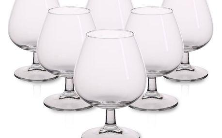 6dílná sada sklenic na koňak Brylant, 370 ml