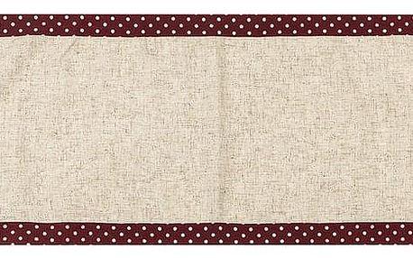 BO-MA Trading Vánoční běhoun Srdíčka puntík červená, 40 x 140 cm