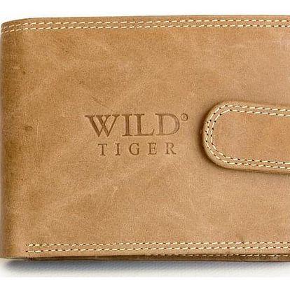 AKCE! Elegantní pánská peněženka WILD Barva: Světle hnědá