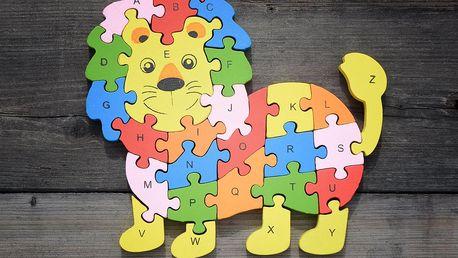 TIP! Dřevěné puzzle - vzdělávací Puzzle: Lev